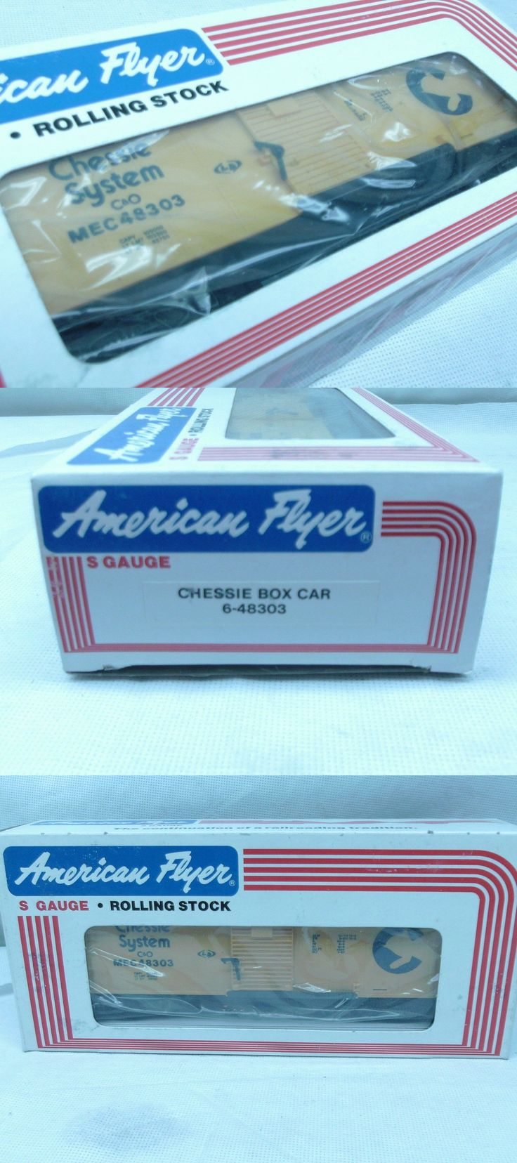 Freight Cars 180286: American Flyer 48303 Chessie Boxcar Mib Still In Box -> BUY IT NOW ONLY: $34.95 on eBay!
