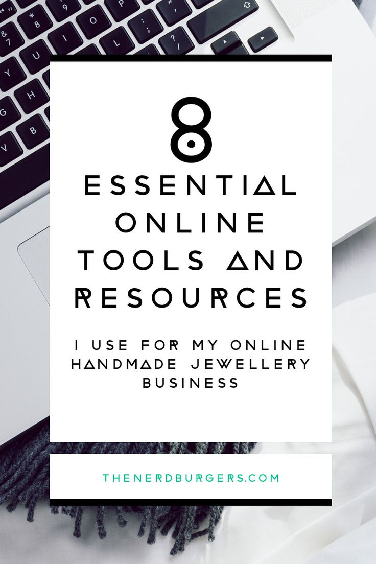 Discover the 8 essential online tools and resources I use everyday for my handmade jewellery business! Click through to download the tools or save the pin and read later!