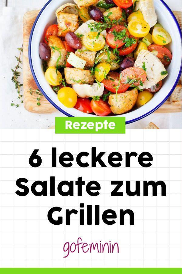 Kreativ und schnell gemacht: 6 leckere Salate zum Grillen #salate #salatrezepte #salategrillen #salatgrillen #salatezumgrillen #leckeresalate #salategesund #salateschnell