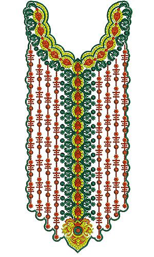 Kaftan Dress Embroidery Design