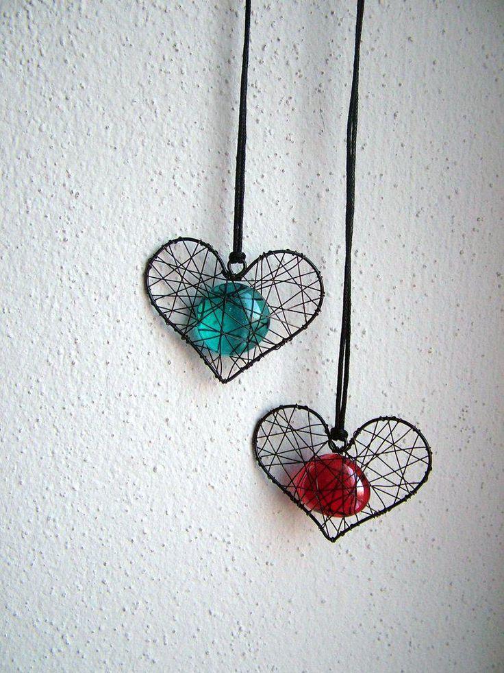 Necklace - heart pendant - 3857494_
