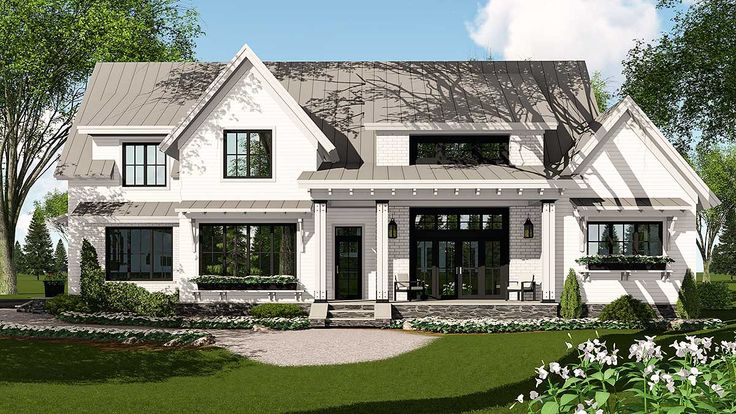 1886sq ft-Modern Farmhouse Plan Rich with Features - 14662RK | Architectural Designs - House Plans
