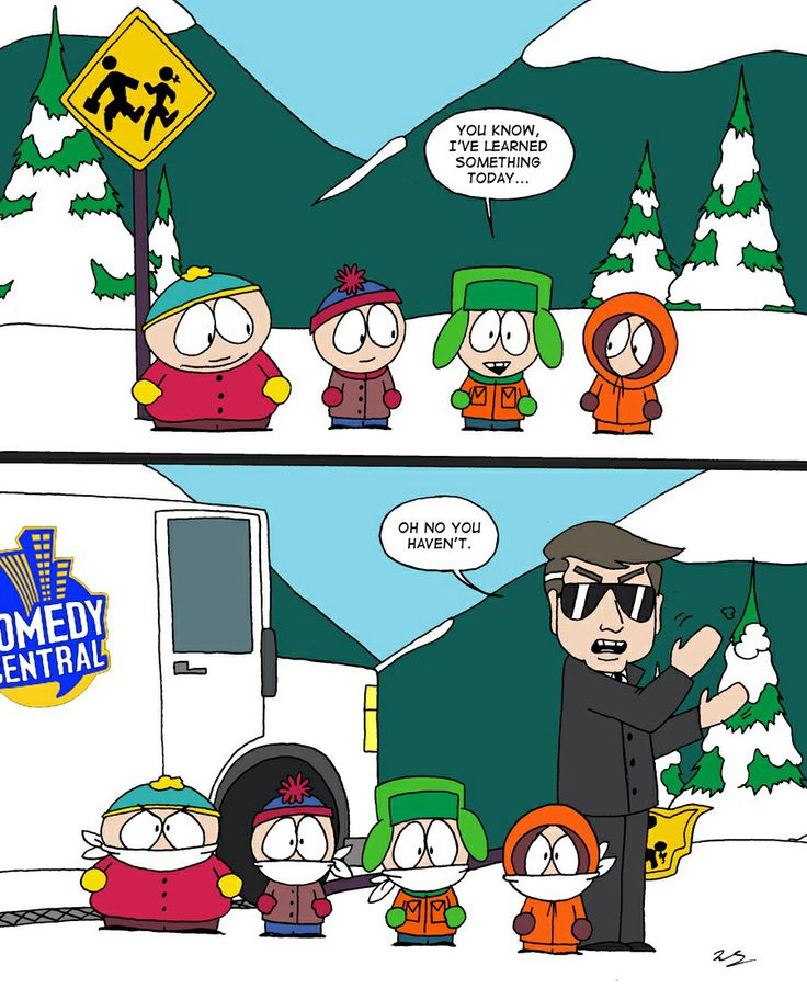 south parks satire On april 1, 1998, south park fans were waiting excitedly to find out who cartman's father was the show's season 2 premiere had been advertised for weeks on comedy central as revealing his.