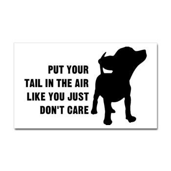 Put Tail in Air from http://LabelMeHappy.com