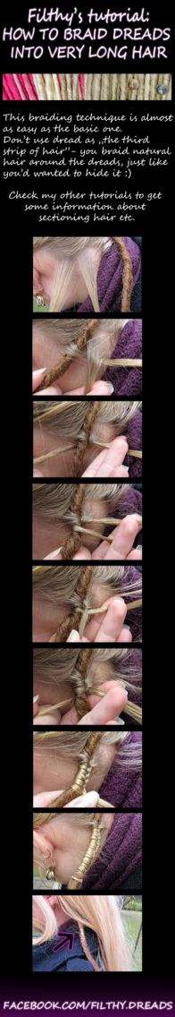 How to do a dreadlock / dreads / homemade / style / hipie / ideas / hair / custom