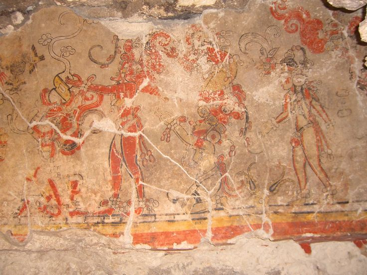 1000 images about cultura y arte on pinterest mexico for Aztec mural painting