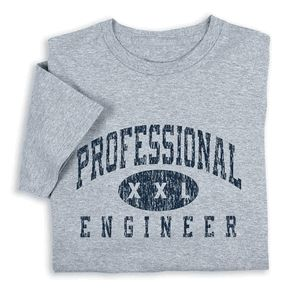Proclaim your engineering expertise wearing Professional Engineer T-shirt. $19.99