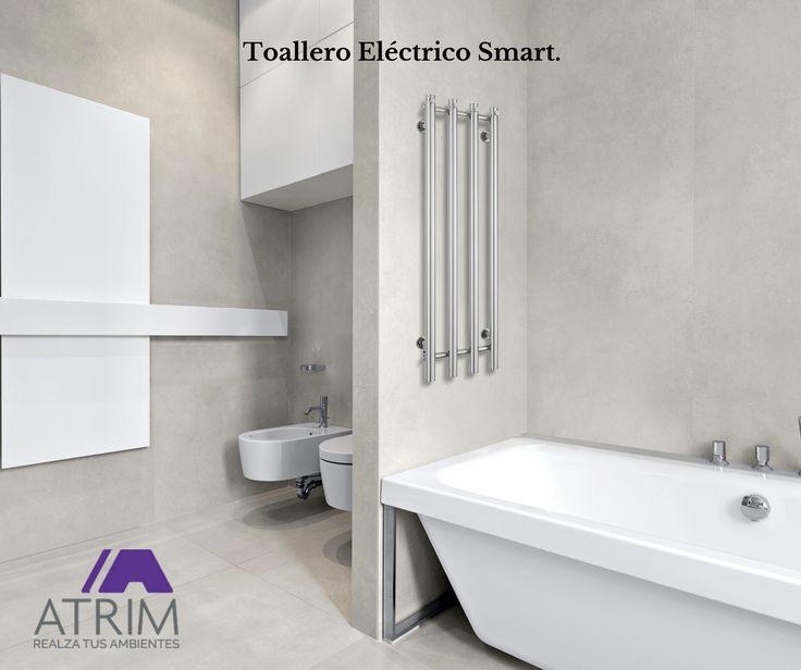 Nueva Línea Modern de Toalleros Eléctricos ATRIM.  Diseños compactos para optimizar espacios. 100% #acero #Inoxidable.