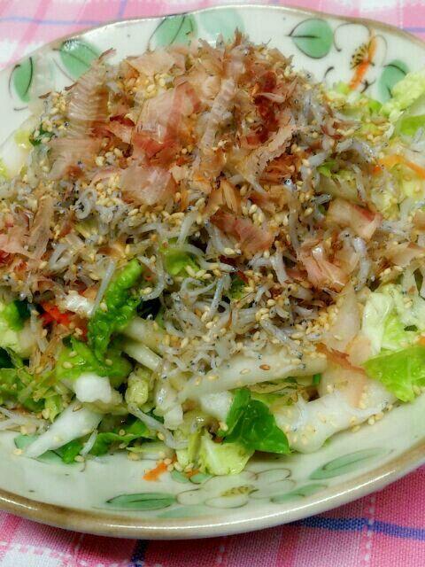 鍋とかに入れる白菜はあまり好きじゃない子供達も このサラダにすると白菜モリモリ食べます 長芋がいい仕事してるんだよね 我が家の定番サラダです(*^^*) - 212件のもぐもぐ - 白菜と長芋の和風サラダ by yuki610