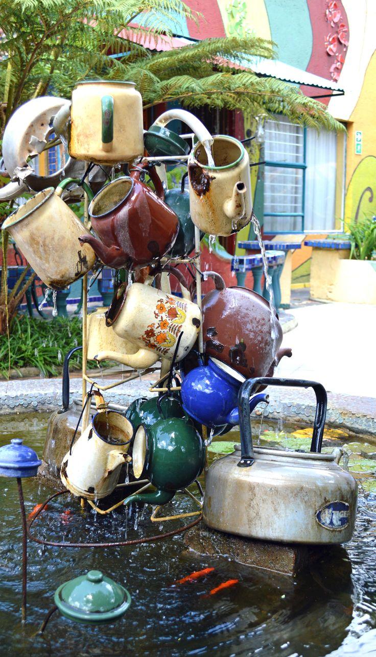 Kettle fountain at Rabbit Hole