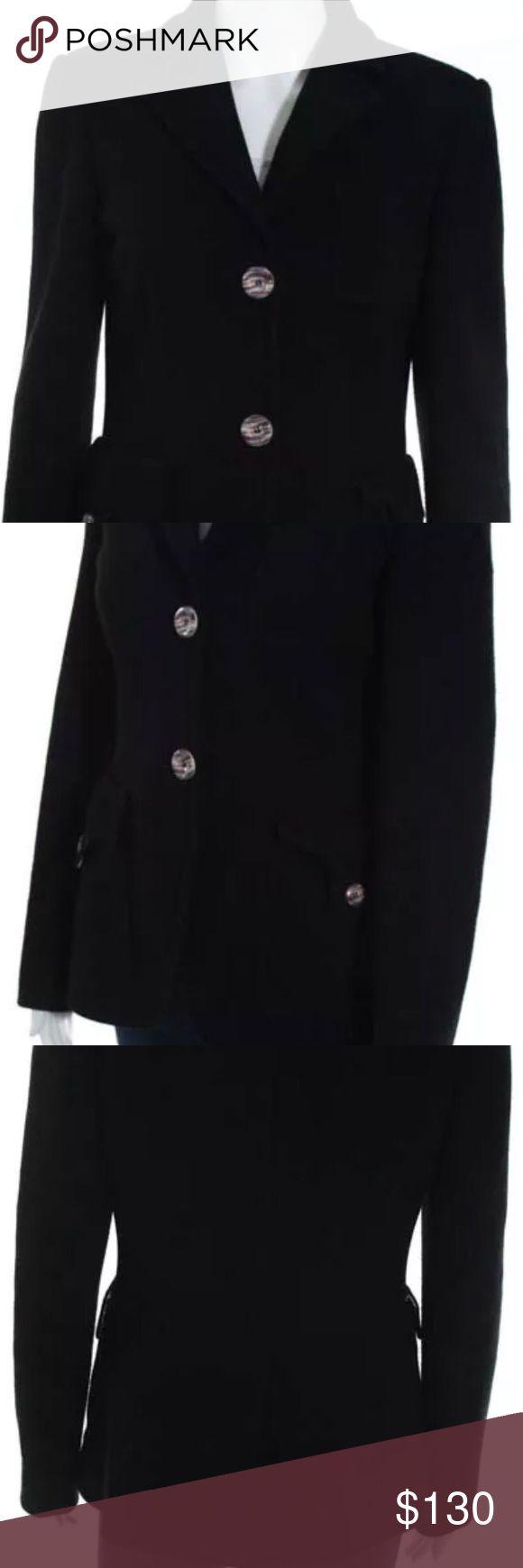 M Missoni Jacket Black Textured Wool Blazer Jacke M Missoni Jackets & Coats Blazers