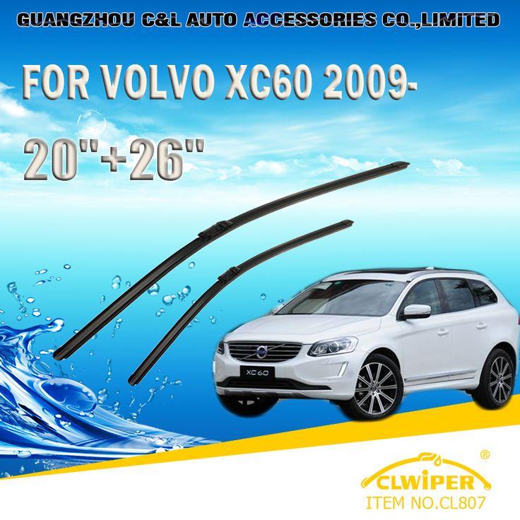 """Wiper Blades For VOLVO XC60 (2008-) 2009 2010 2011 2012 2013 2014 Car Windscreen Wiper Windshield Wiper Blade 20""""+26"""" #Affiliate"""