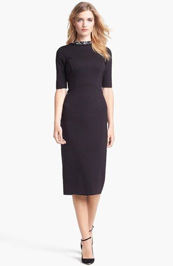 Ted Baker London Stretch Knit Midi Dress