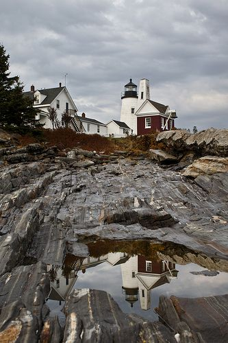Fall at the Pemaquid Point Lighthouse in Maine
