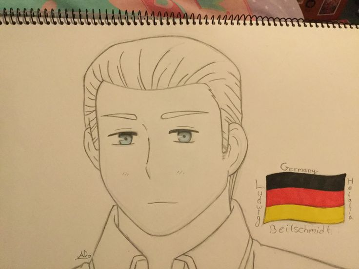 Germany from Hetalia. I honestly love this, it took me quite a while too~ Ve~