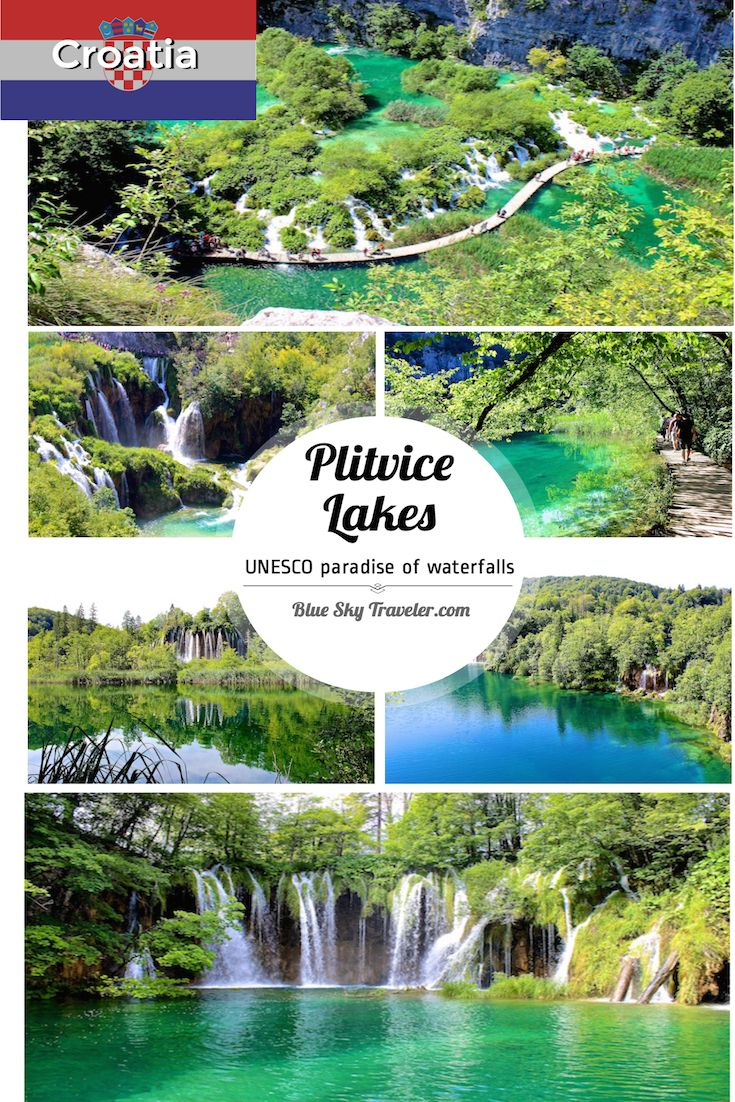 Plitvice Lakes, a UNESCO site in Central Croatia, is one of the most stunning hikes in Europe along planked walkways through a series of blue-green crystal clear lakes connected by waterfalls.