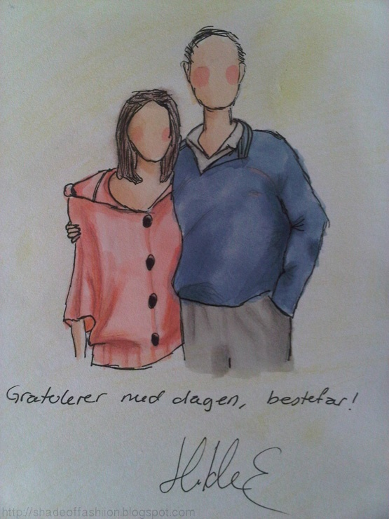 Shade of Fashiion #drawing #markers #illustration #birthday #card #promarkers #grandpa