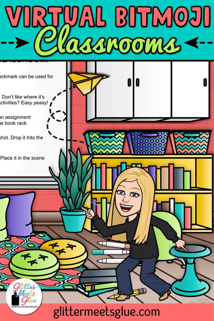 Pin on Virtual Bitmoji Classroom Ideas