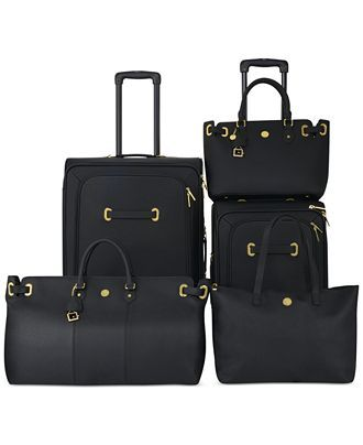 Joy Mangano Christie Leather Spinner Luggage - Luggage Collections - Macy's
