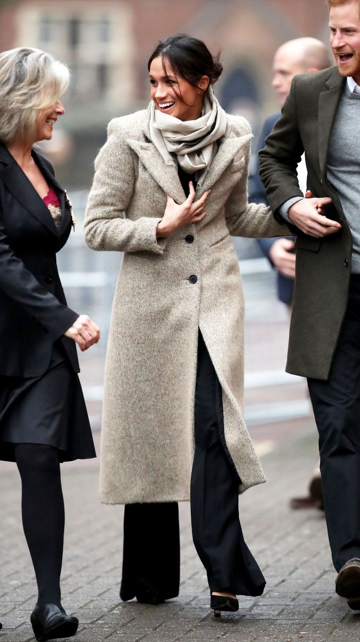 "Meghan Markle Just Wore the Chicest Winter Outfit Combo of 2018 Prince Harry and Meghan Markle were spotted out early this morning for their second official public outing as an engaged couple. The two are visitingReprezent Radioin Brixton ""to see their work supporting young people through creative training in radio and broadcasting""Kensington Palace announced on Twitter this morning. For the outing Markle wore what we're officially considering the chicest three-piece winter outfit combo of…"