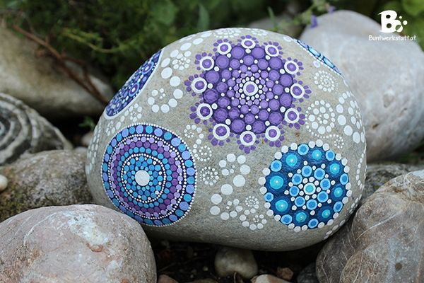 Mandala Stones Tutorials / Mandala Steine Anleitung ~ colorful-crafts.com