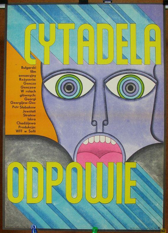 Movie poster - The Citadel Replied. Original poster for the famous Bulgarian 1970 film. Artist: Andre de Krayewski 1970. Home and pub décor