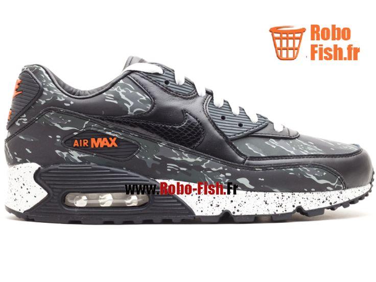 """Nike Air Max 90 Premium """"Atmos"""" - Chaussure Nike Running Pas Cher Pour Homme Noir/Blanc 333888-024"""