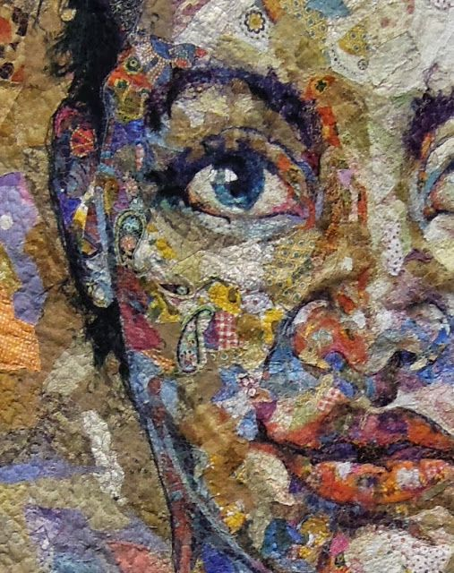 close up, Shattered Face Quilt by Kathryn Harmer Fox, East London, South Africa.  2013 PIQF, photo by Quilt Inspiration