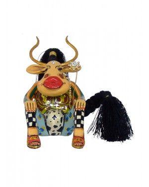 Escultura Vaca Esmeralda - Thomas Hoffman #tomsdrag #thomashoffman #decoracao #escultura #amandapresentes #vaca #esmeralda