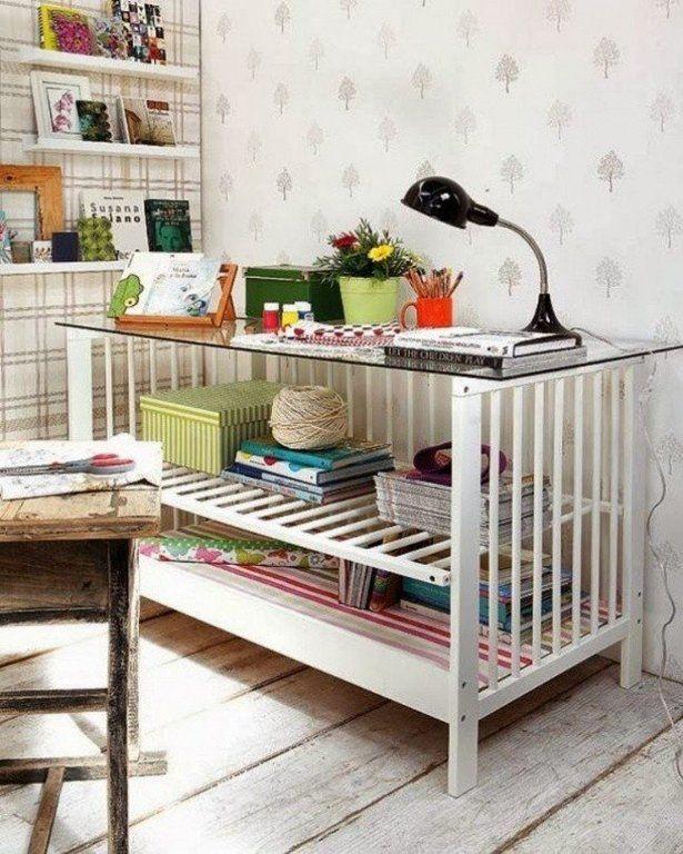 рабочий стол из детской кроватки