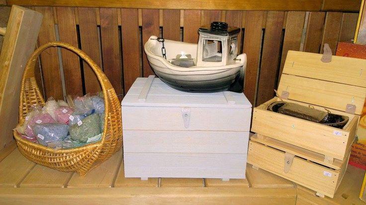 Sauna boat Emil and sauna salt