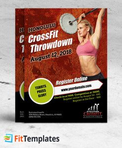 CrossFit Flyer Template For Weight Lifting Events On FitTemplates