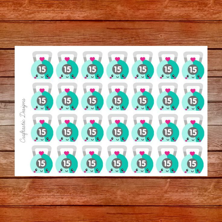Cute Kettle Balls Planner Stickers by CraftasticsDesigns on Etsy