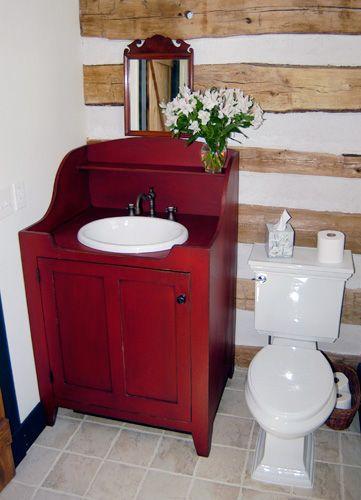 Original  Dry Sink Vanity Bathroom Vanities Mountain Primitives Bathroom