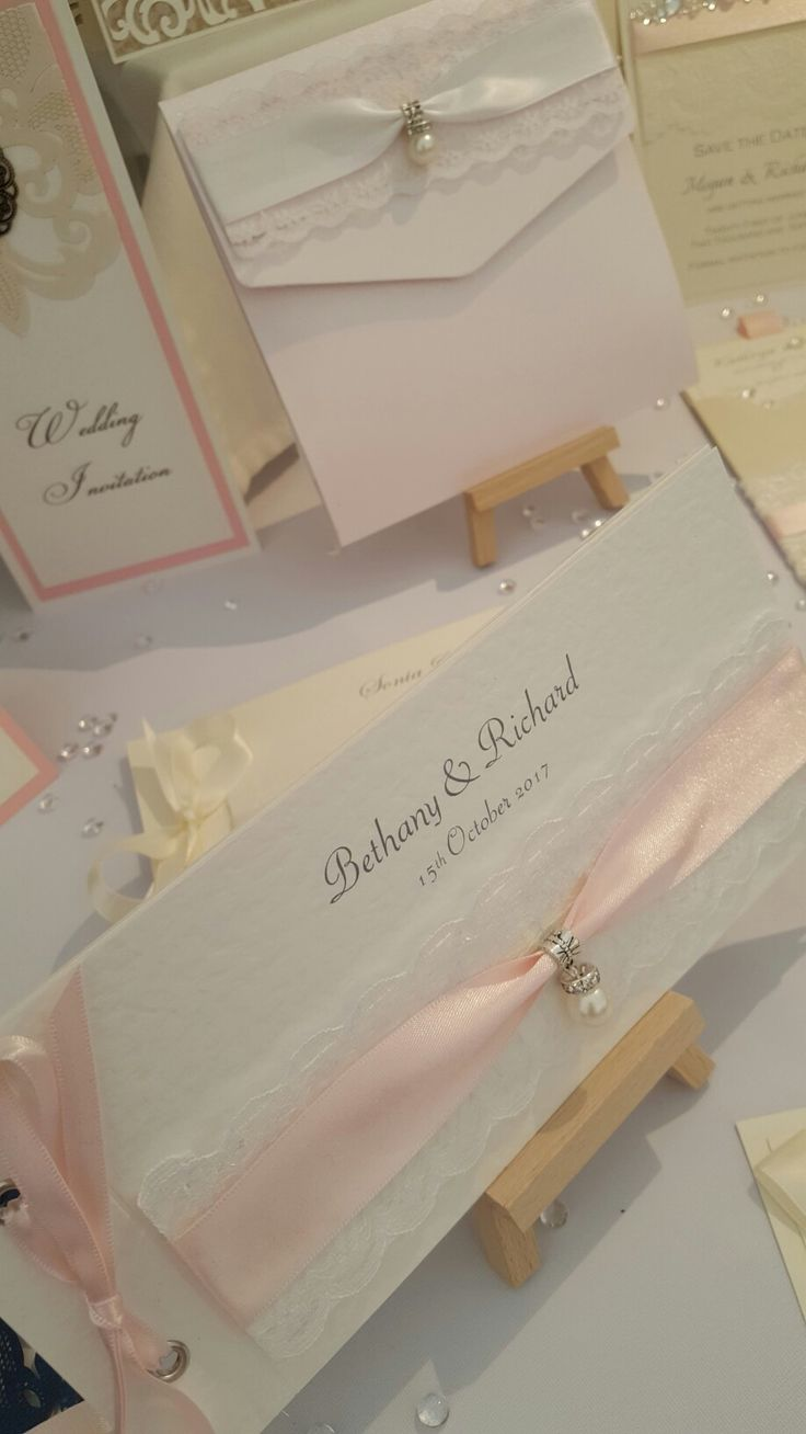 hammered card with lace, satin ribbon and beautiful pearl dropper embellishment