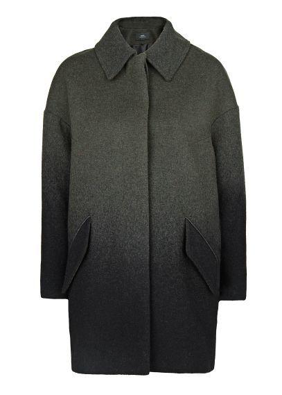 Manteau oversize dégradé laine