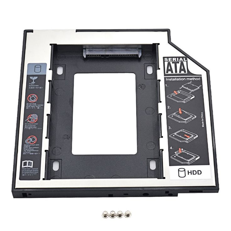 Hot SATA to SATA 2nd HDD Caddy 9.5mm for 9mm 9.5mm SSD Case Hard Disk Drive Enclosure Bay for Notebook ODD Optibay CD-Rom