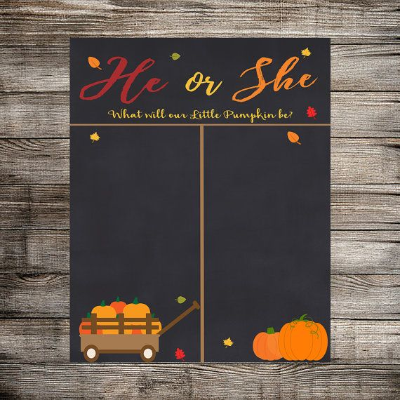 Fall/Autumn Gender Reveal Vote Gender Reveal Party by HomaliDesign