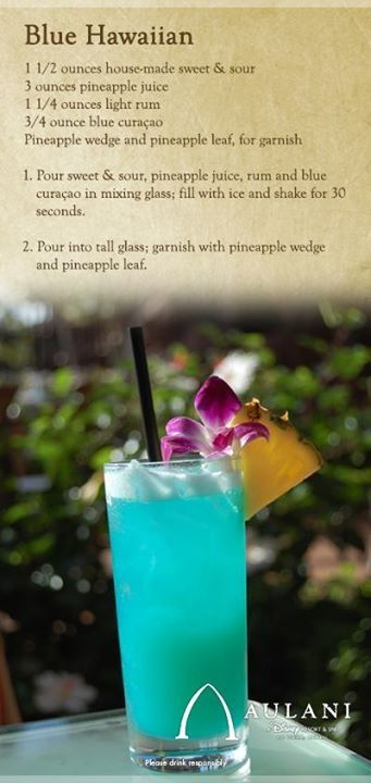 Blue Hawaiian from Disney's Aulani: a great summer drink