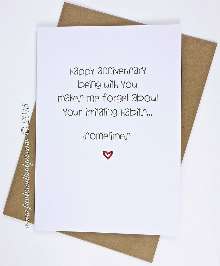 Best 25+ Funny anniversary cards ideas on Pinterest Anniversary - printable anniversary cards for husband