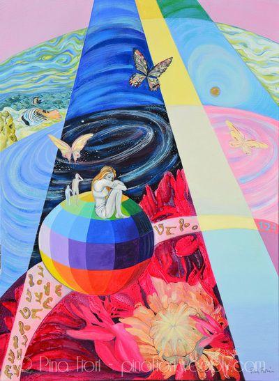 To the future (Ritratto di Giuliana B.) - © Pina Fiori #arte #art #future #portrait #painting #picture #gallery