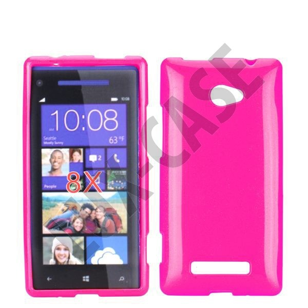 GlitterShell (Hot Pink) HTC 8X Cover