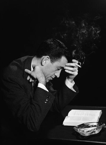 J.D. Salinger reading The Catcher in the Rye. Photo via Awesome People Reading.