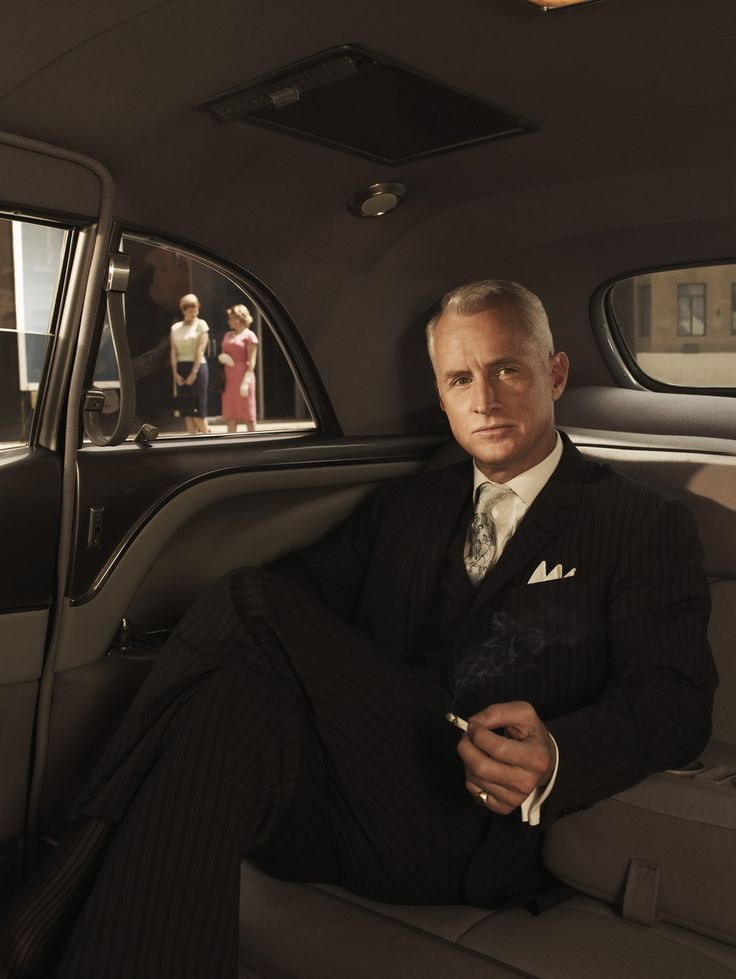 """Mad Men's Roger Sterling. """"Well, I've got to go learn a load of people's names before I fire them."""""""