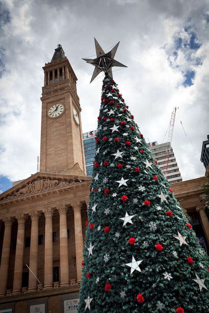 Christmas Tree at Brisbane City Hall, Australia
