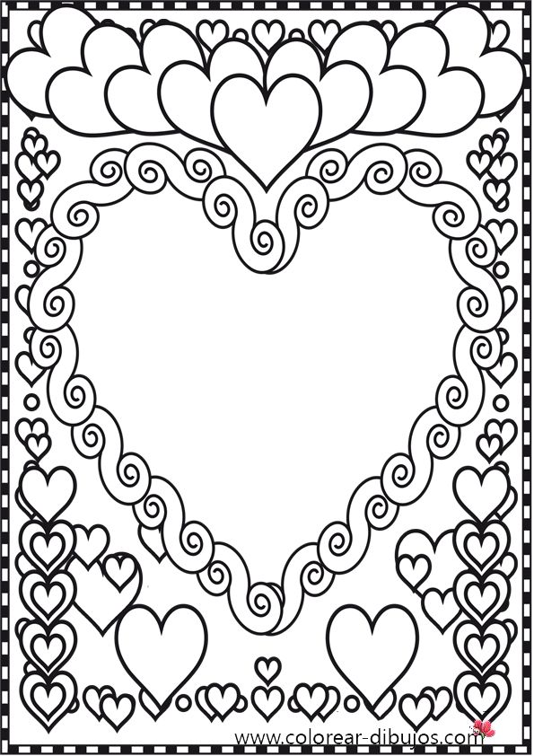 zentangle valentine hearts