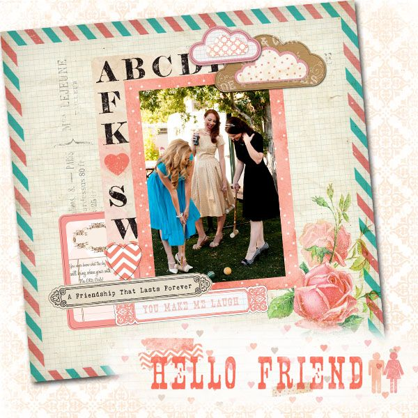 ABC featuring Hello Friend from Glitz Design - Scrapbook.com