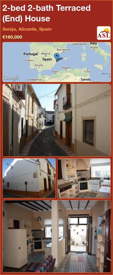 2-bed 2-bath Terraced (End) House in Senija, Alicante, Spain ►€160,000 #PropertyForSaleInSpain
