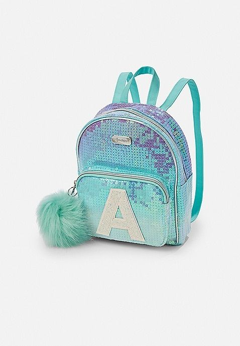 Ombre Sequin Initial Mini Backpack  3268b4aa28a3c