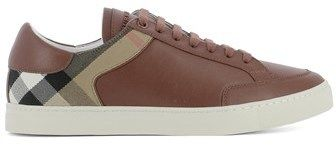 Burberry Men's Brown Leather Sneakers.